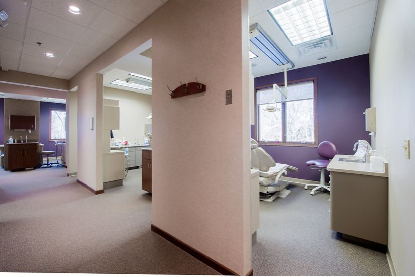 operatory and hallway at Sussex Dental