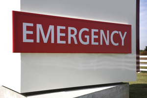 Emergency Sign to advertise emergency dental services at Sussex Dental